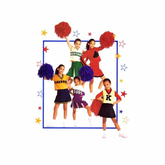 Girls Cheerleader Costumes McCalls 2849 Sewing Pattern | Sewing ...
