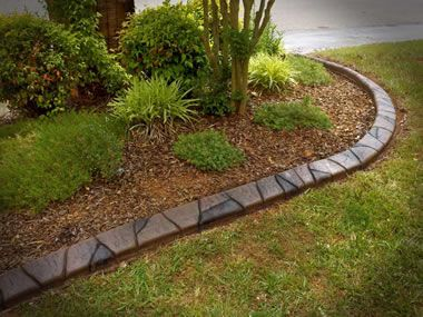 Creative Flower Bed Edging Concrete Curbing