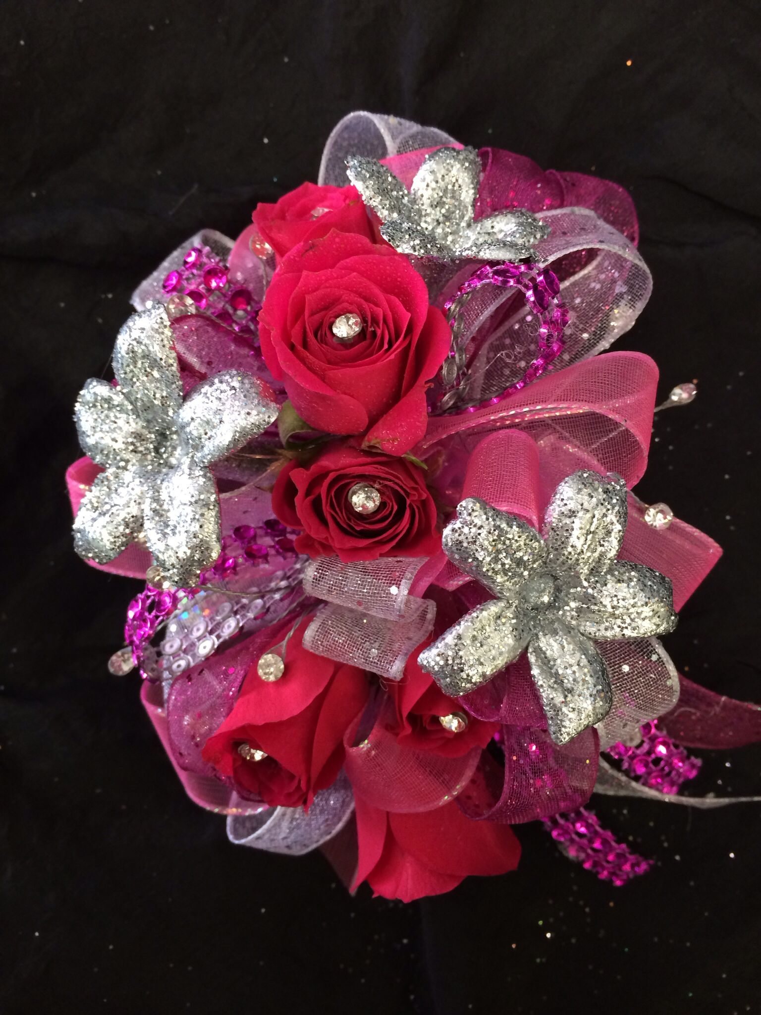 Prom Flowers Love The Sparkly Flowers Would Love It With Blue