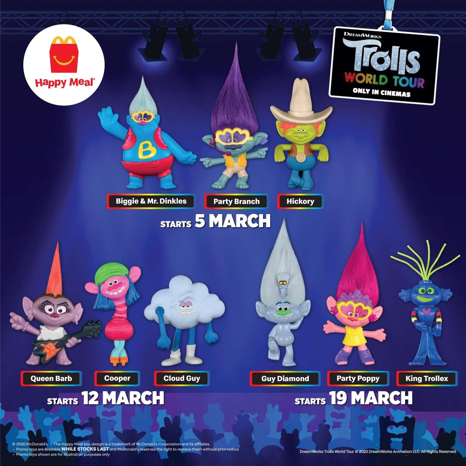Mcdonald S Happy Meal Free Trolls World Tour Toys 5 March 2020