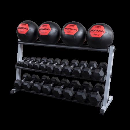 Gdr60mrt Sftpack 3tier Rack With Dumbbells Medicine Balls Black Ball Storage Medicine Balls Storage