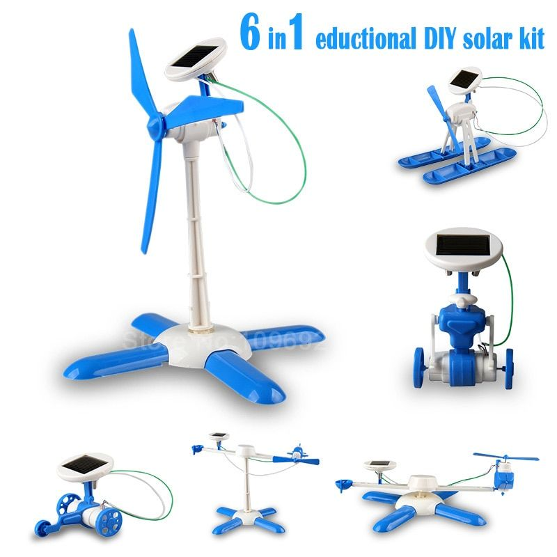 6in1 education diy solar kit solar robot solar wheeler