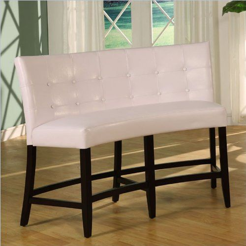 Modus Furniture 2ya470d Bossa Counter Height Banquette White Leatherette Furniturendecor Com Upholstered Dining Bench Modus Furniture Corner Bench Dining Set
