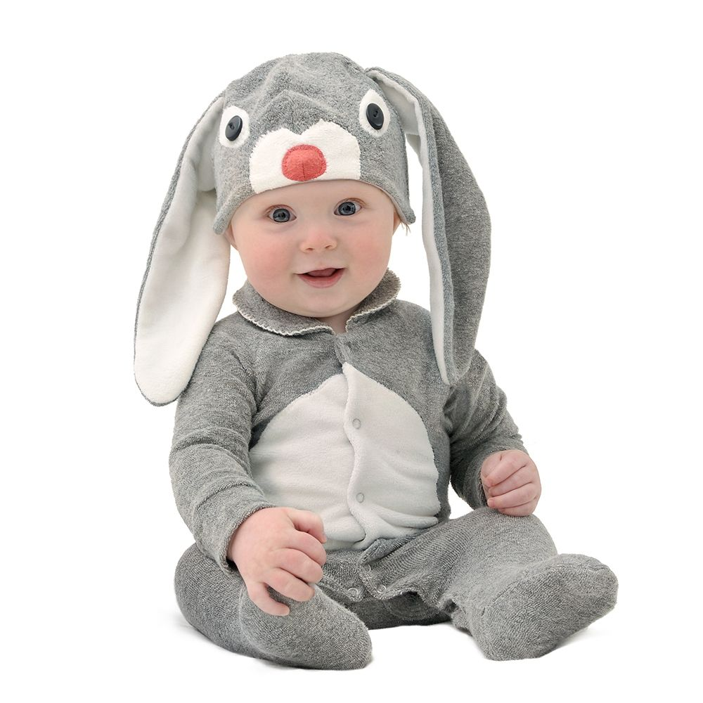 Lil' grey bunny baby & toddler costume with hat Baby