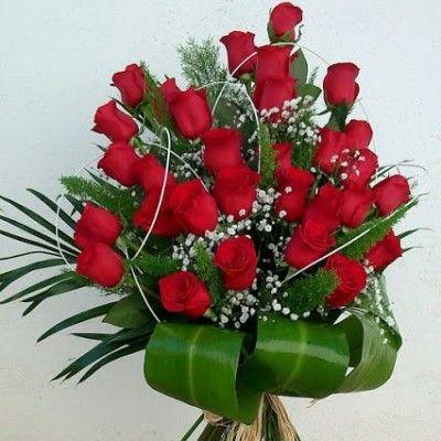 Ramo De Rosas Naturales Para Regalar Ramo De Rosas Ramo De Rosas Rojas Docena De Rosas Rojas