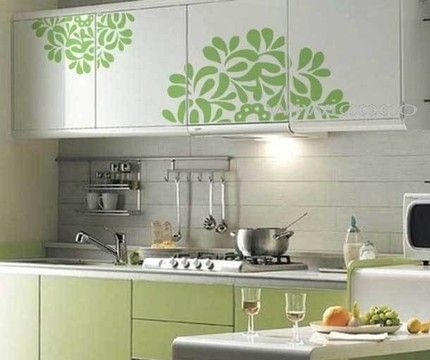Kitchen Stickers Like The Color On Bottom Cabinets With White Top Ones
