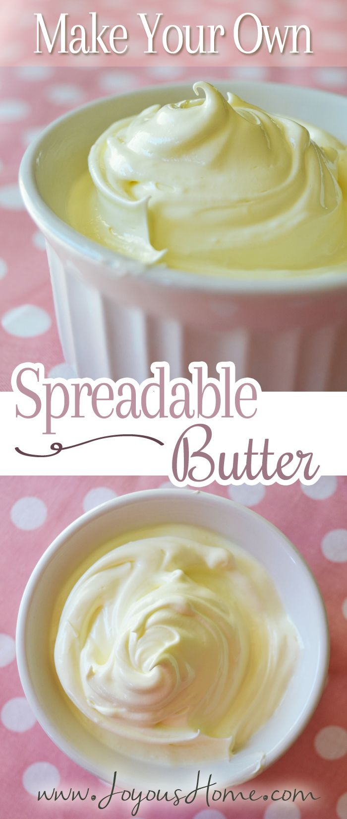 Make Your Own Homemade Spreadable Butter Homemade Butter Real Food Recipes Kefir Recipes