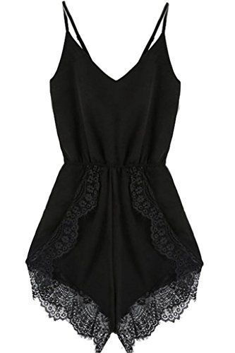 777a7451ec8 Fashion Bug Women Plus Size  Jumpsuits   Rompers  FACE N FACE Women s Lace  Chiffon Sleeveless Jumpsuit Rompers - lingerie