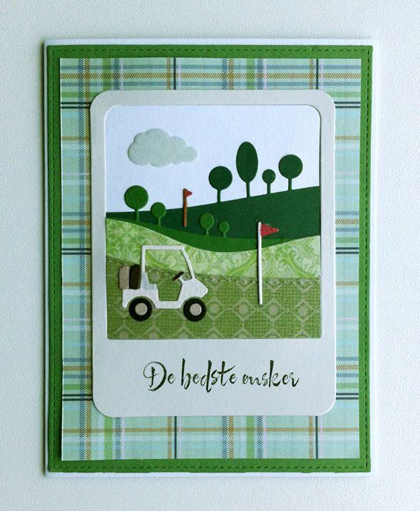 Card for men or sporty women sport golf cart memorybox - Polaroid karten ...