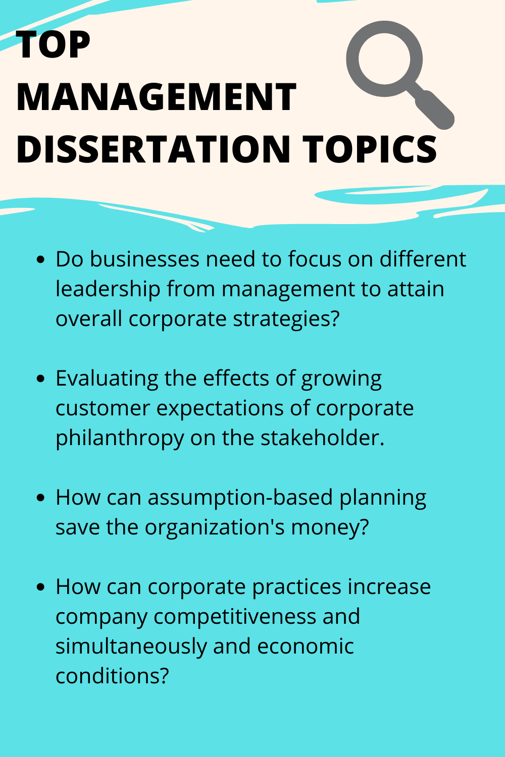 Management Dissertation Topic In 2020 Writing Service Leadership Ideas