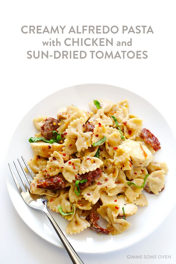 Check out Creamy Pasta with Chicken and Sun-Dried Tomatoes ...