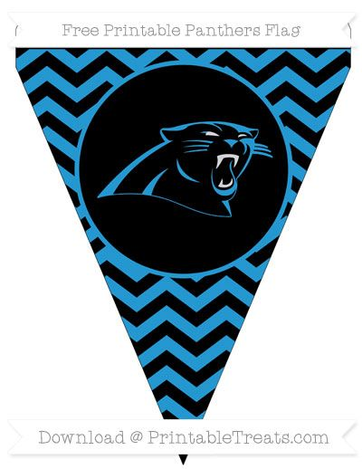image regarding Carolina Panthers Printable Logo called Free of charge Chevron Panthers Printable Flag Soccer Cheer