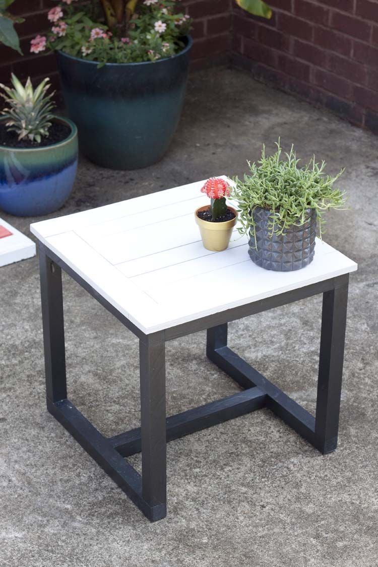 patio accent table on diy outdoor side table pottery barn knockoff diy patio table diy patio furniture backyard furniture diy outdoor side table pottery barn