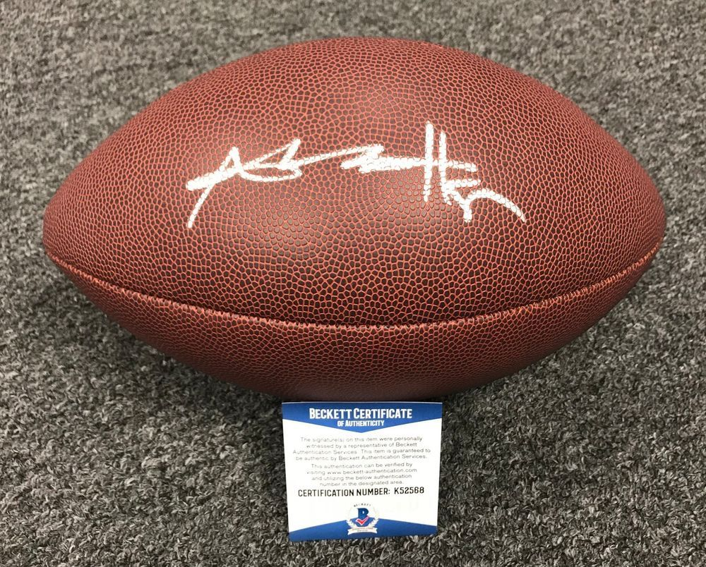 e5d538f4a6d Antonio Brown Signed Full Size Football Beckett BAS WITNESSED COA Steelers # Football
