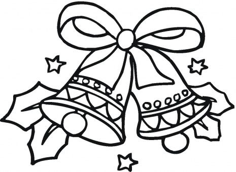 christmas coloring pages christmas bells coloring page super coloring