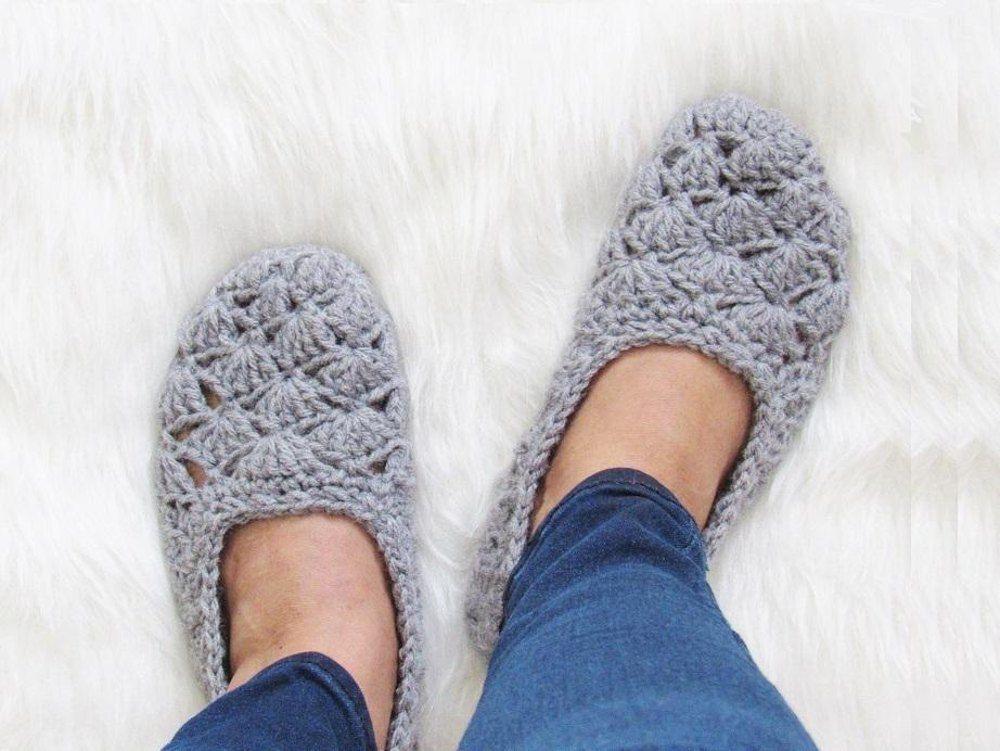 Shell Slipper Crochet Pattern | Fragmentos | Ganchillo crochet ...
