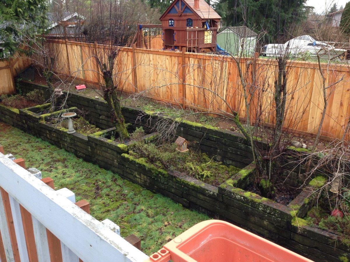 Multi level brick raised garden beds Garten