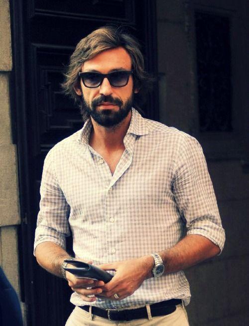 Andrea Pirlo/Futbolista   Men\'s fashion   Pinterest   Taglio di ...
