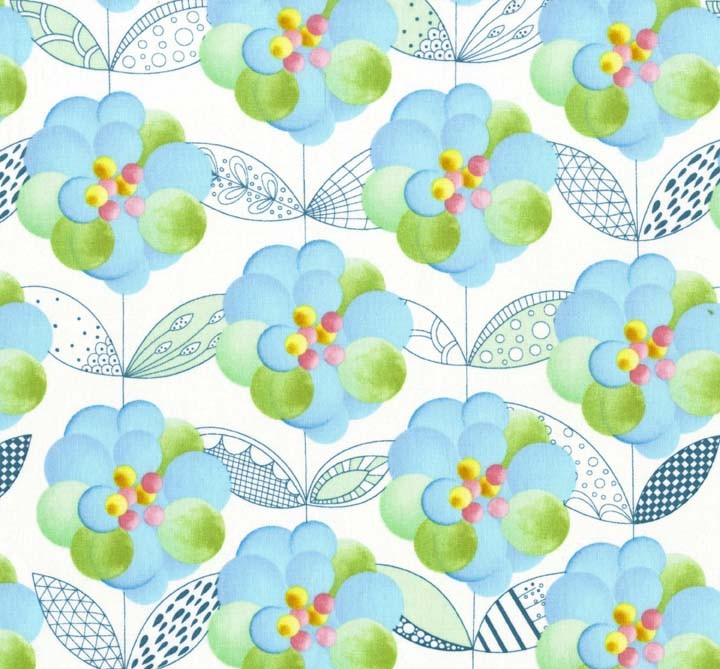 Crafters Vision - Michael Miller - Flight Patterns - Turquoise Blue Blossom Cotton Fabric, $9.20 (http://www.craftersvision.com/michael-miller-flight-patterns-turquoise-blue-blossom-cotton-fabric/)