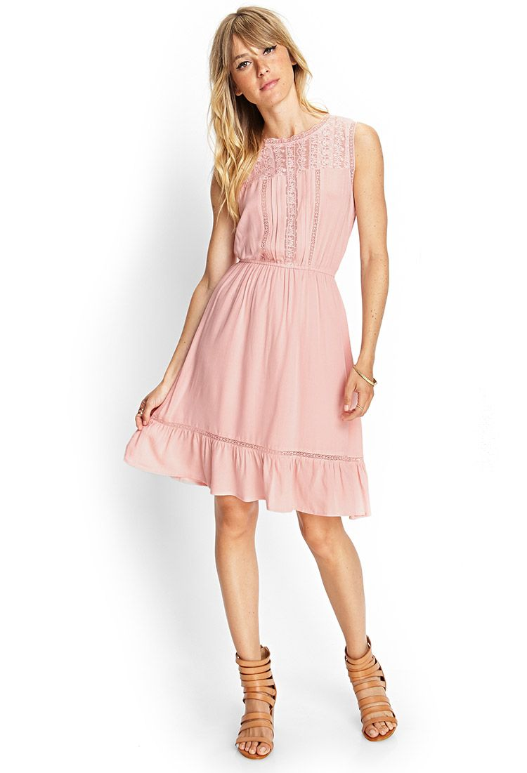Embroidered Floral Peasant Dress   Forever 21 Canada   Church ...