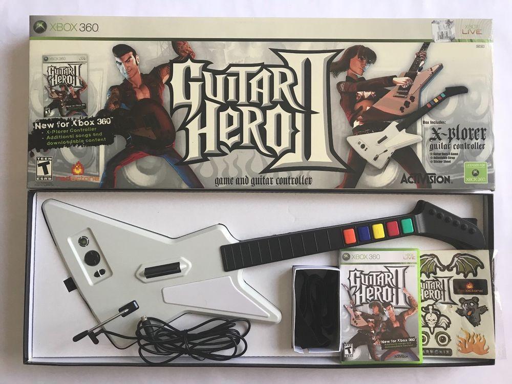 Guitar Hero Ii Bundle Xbox 360 Guitar Hero Hero Guitar