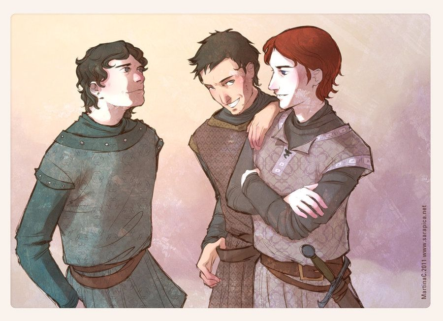 Youth In Winterfell By Martinacecilia Deviantart Com On Deviantart Jon Theon Robb Tots Amiguets Canco De Gel I Foc Asoiaf Game Of Thrones Theon