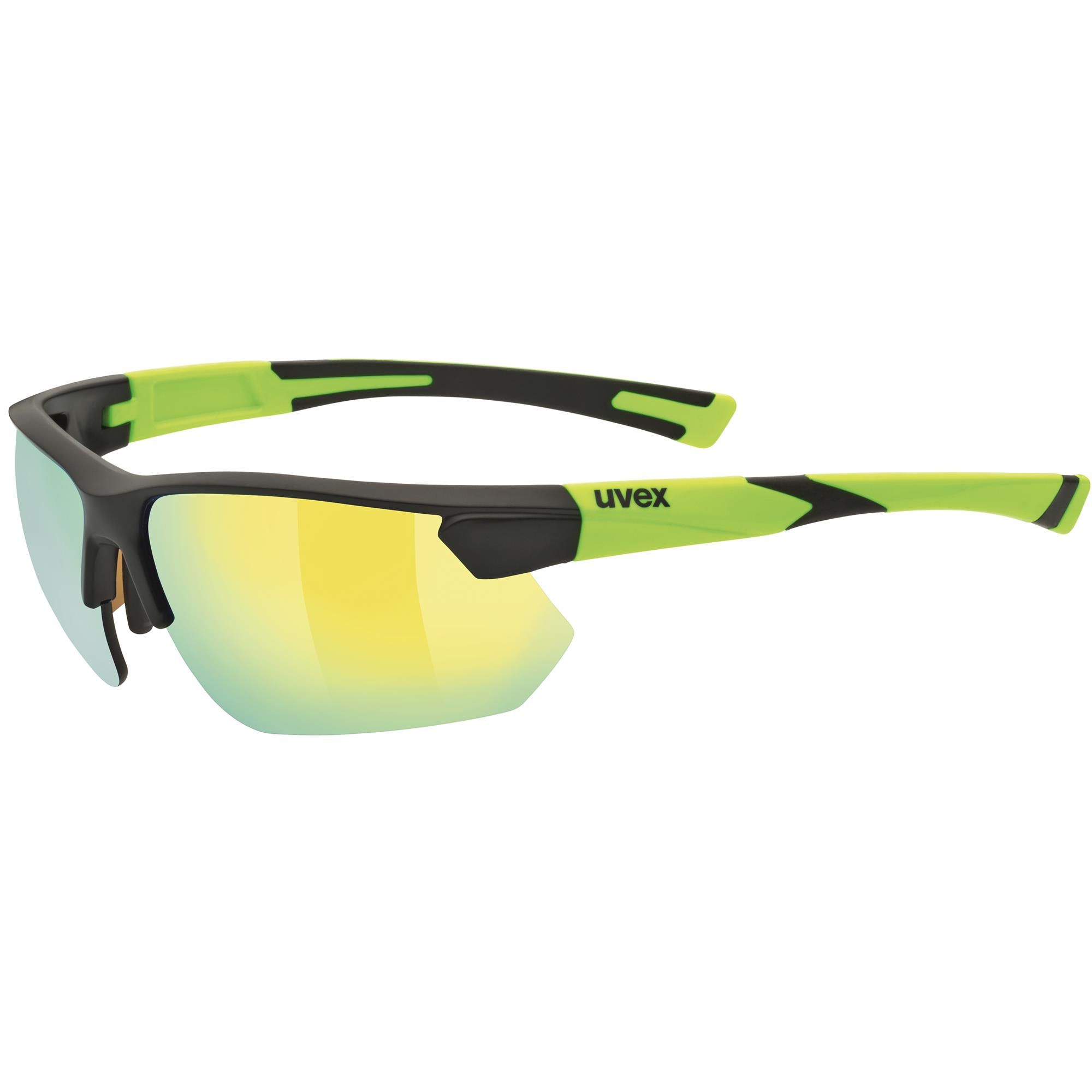 Uvex Sportstyle 221 Sportbrille Schwarz/Gelb AUM7YkH