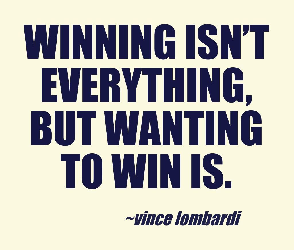 There are some days that we win and other days that we will lose. Both winning and losing are parts of life. It is how much we strive to win that determines whether we become champions or not.