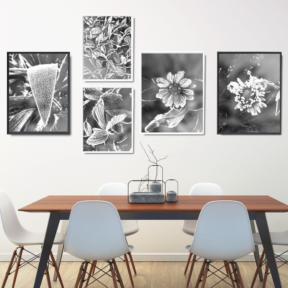 Modern Black And White Prints Set, Black And White Printables Set ...