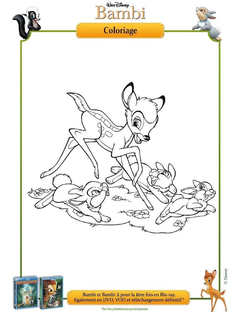 Coloriage Bambi Et Panpan Coloring Pages Pinterest Coloring