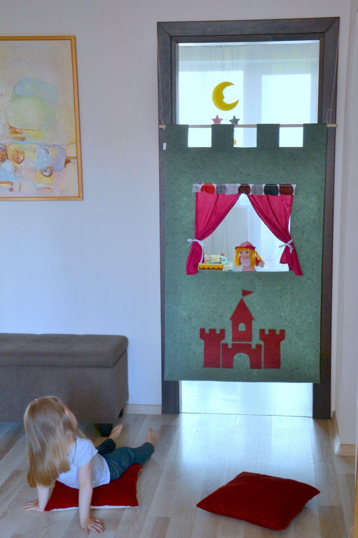 Kinder Puppentheater / Tür Marionetten Theater / Kinderzimmer Dekoration /  Prinz Und Die Prinzessin Party / Schloss Aufkleber Von NukuKids Auf Etsy ...
