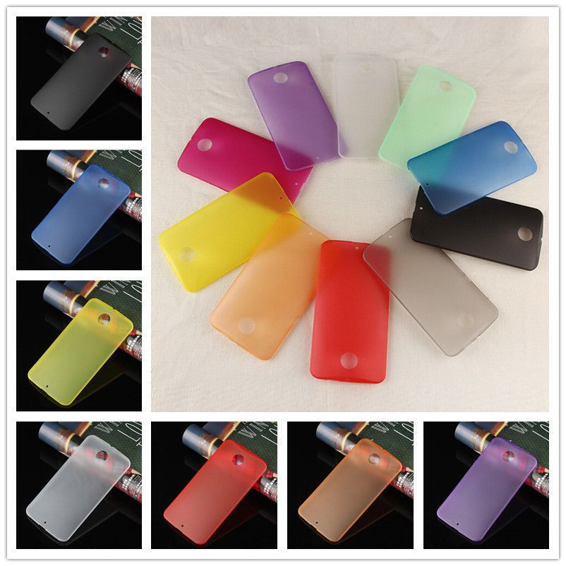 New Colorful Ultra Slim 0.3mm Matte Clear Cover Case For Motorola Google Nexus 6