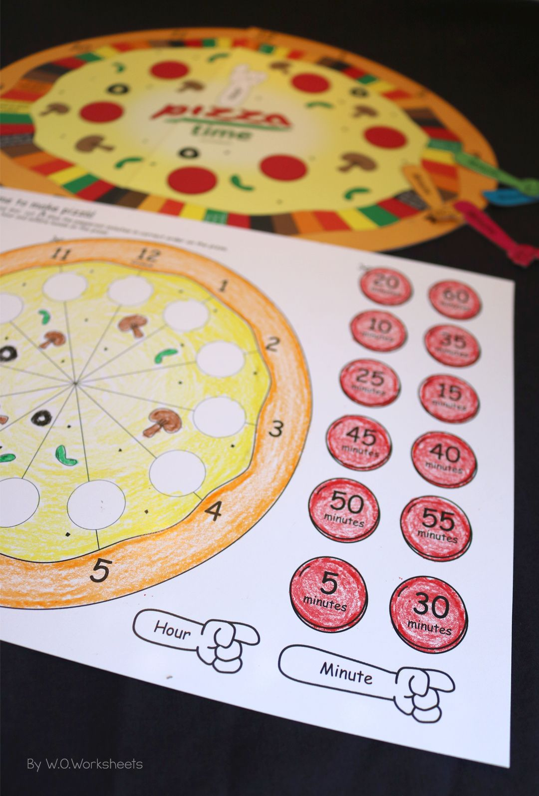 Telling Time Worksheets Center Game Amp Craft