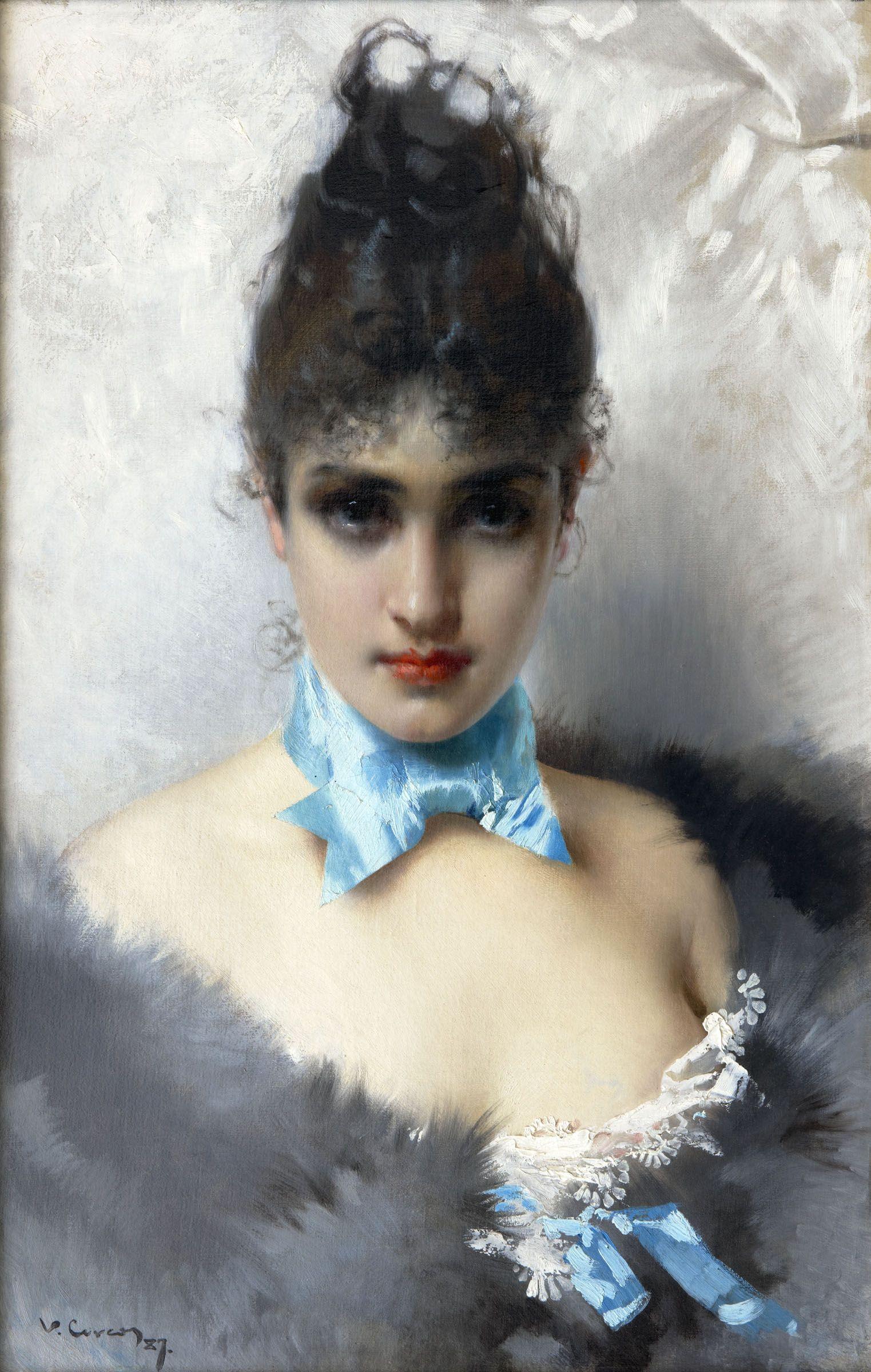 Ritratto Di Donna Elegante 1887 By Vittorio Matteo Corcos Italian