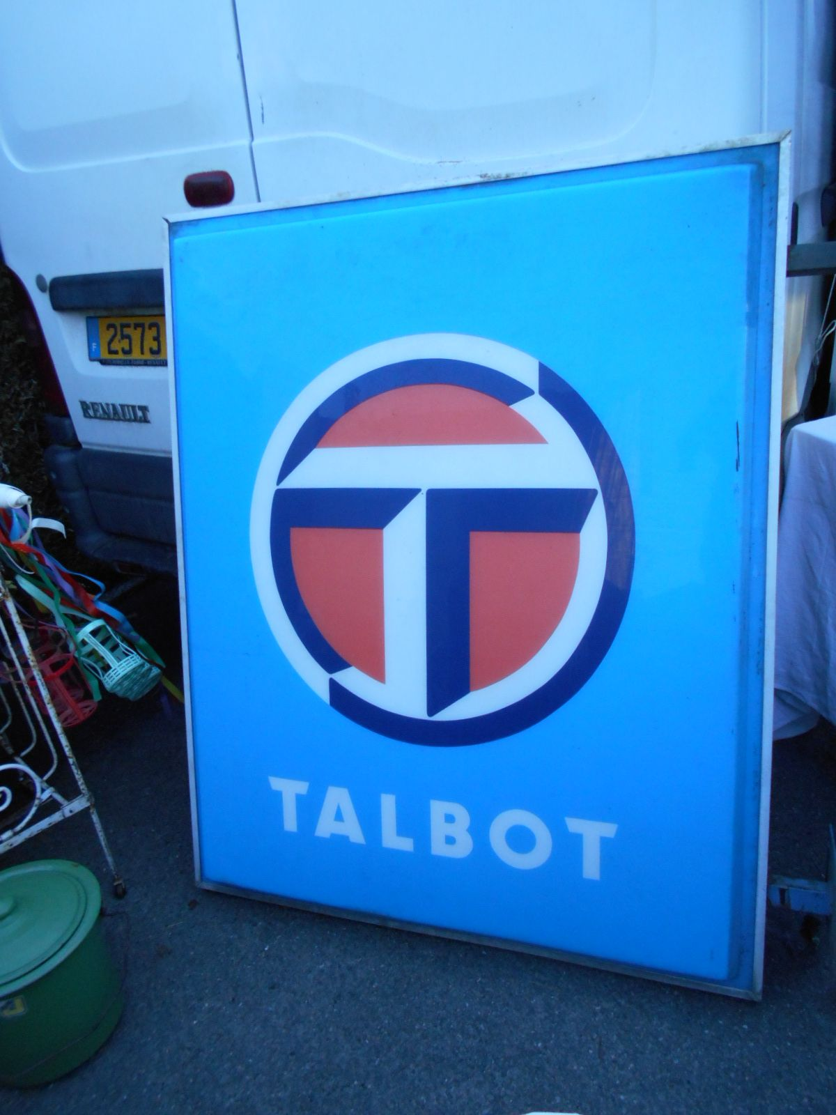Talbot Enseigne vers 1980 Talbot Chrysler Rootes