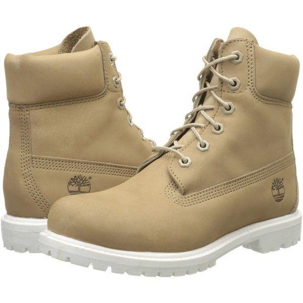 Timberland 6 Premium Boot (Bone Nubuck) Women's Lace-up Boots ($120)