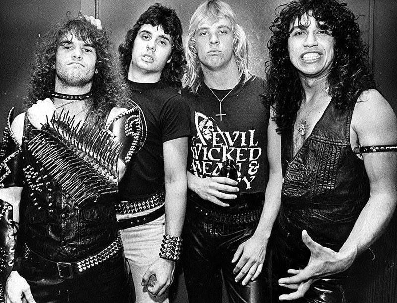SLAYER 1984 - Kerry King, Dave Lombardo, Jeff Hannemann (RIP