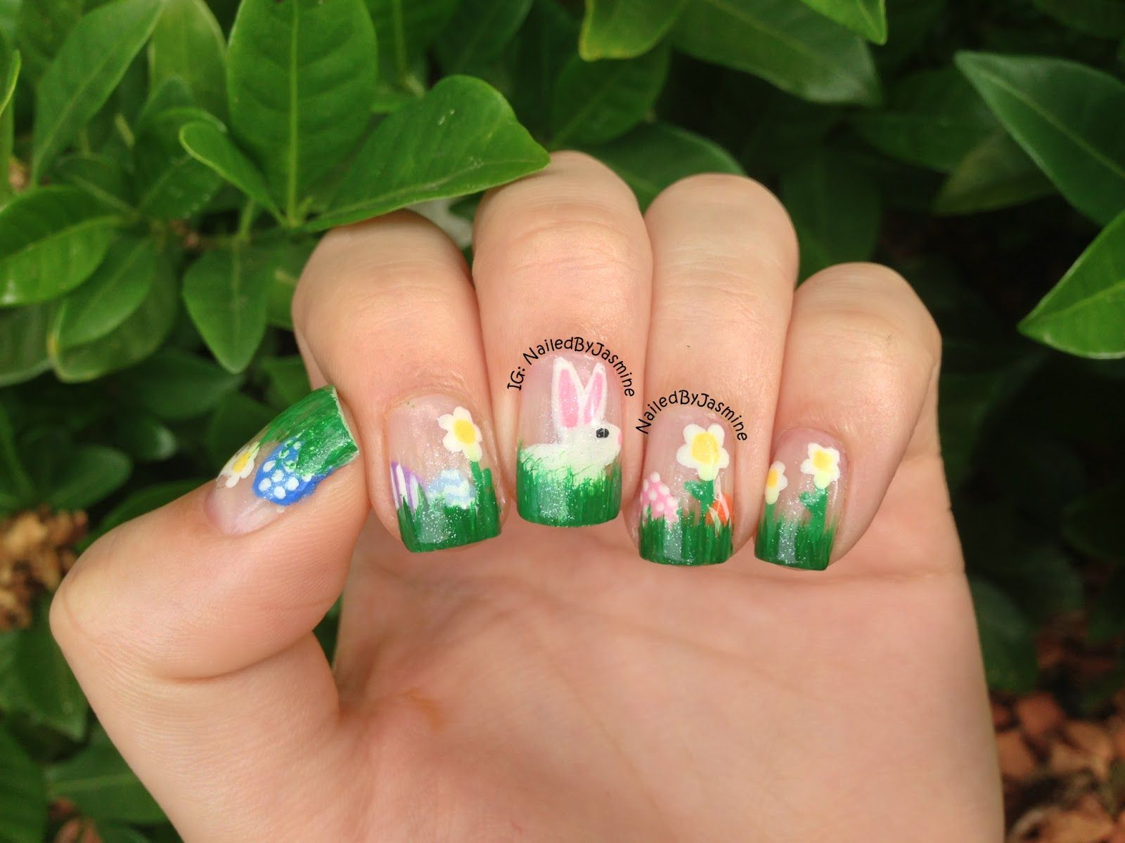 Easter Nail Art check out www.MyNailPolishObsession.com for more ...