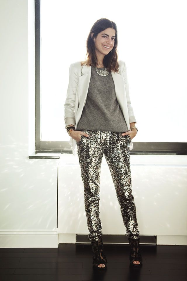eafc8b08 11 Ways to Make Sequin Pants Look (Very) Cool   Just For The Style 6 ...