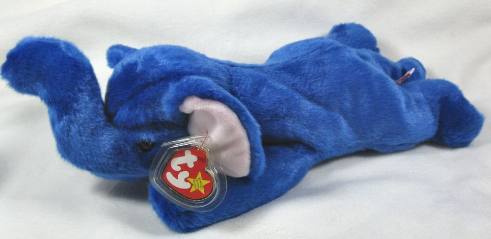 Ty Peanut Royal Blue Plush Elephant Beanie Buddy 1998 Rare  Ty ... ee7585430b8d