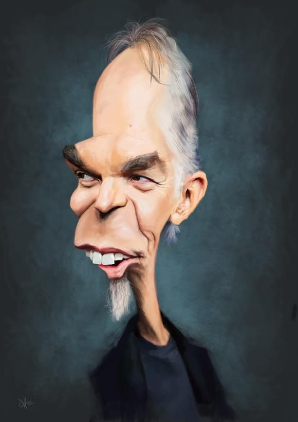 Billy Bob Thornton Ahhh Grm Funny Features In 2019 Caricature