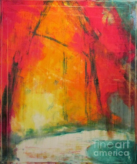 Ghost Runner By Emily Mclemore Abstract Ghost Painting