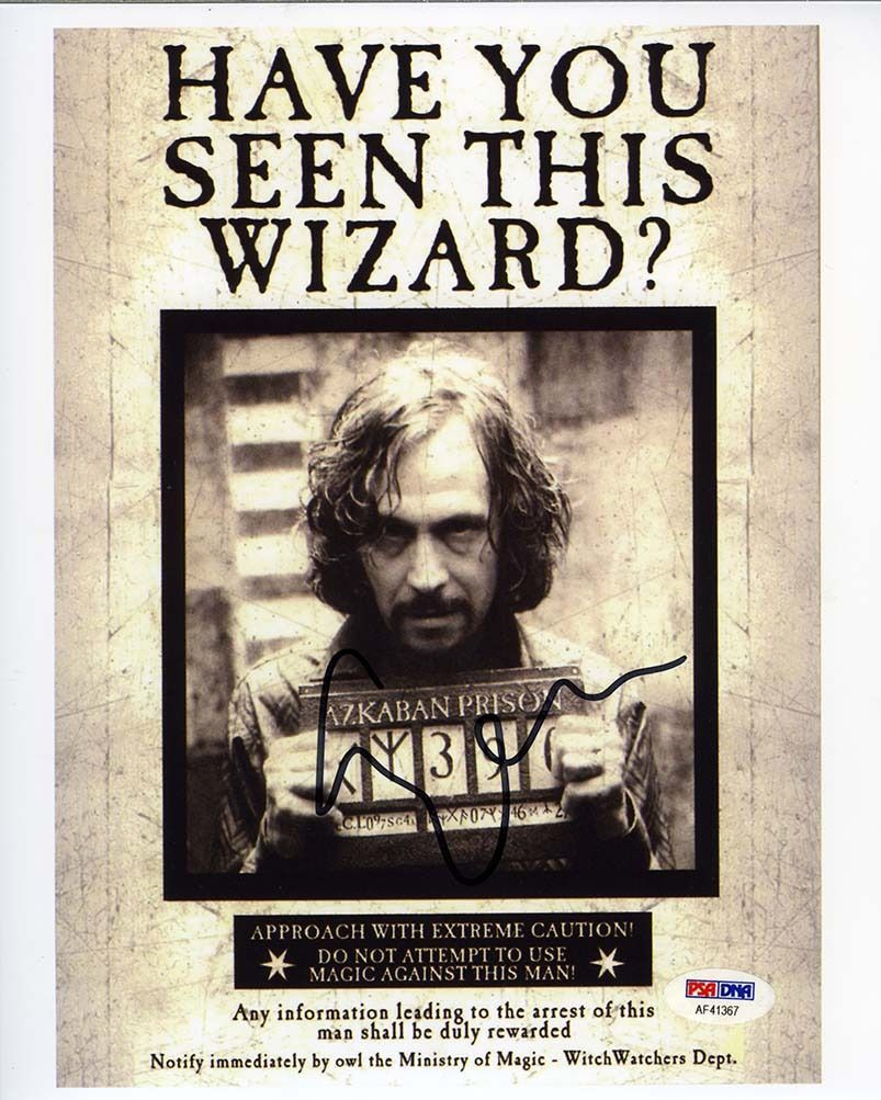 Gary Oldman Harry Potter Signed 8x10 Photo Certified Authentic PSA/DNA COA