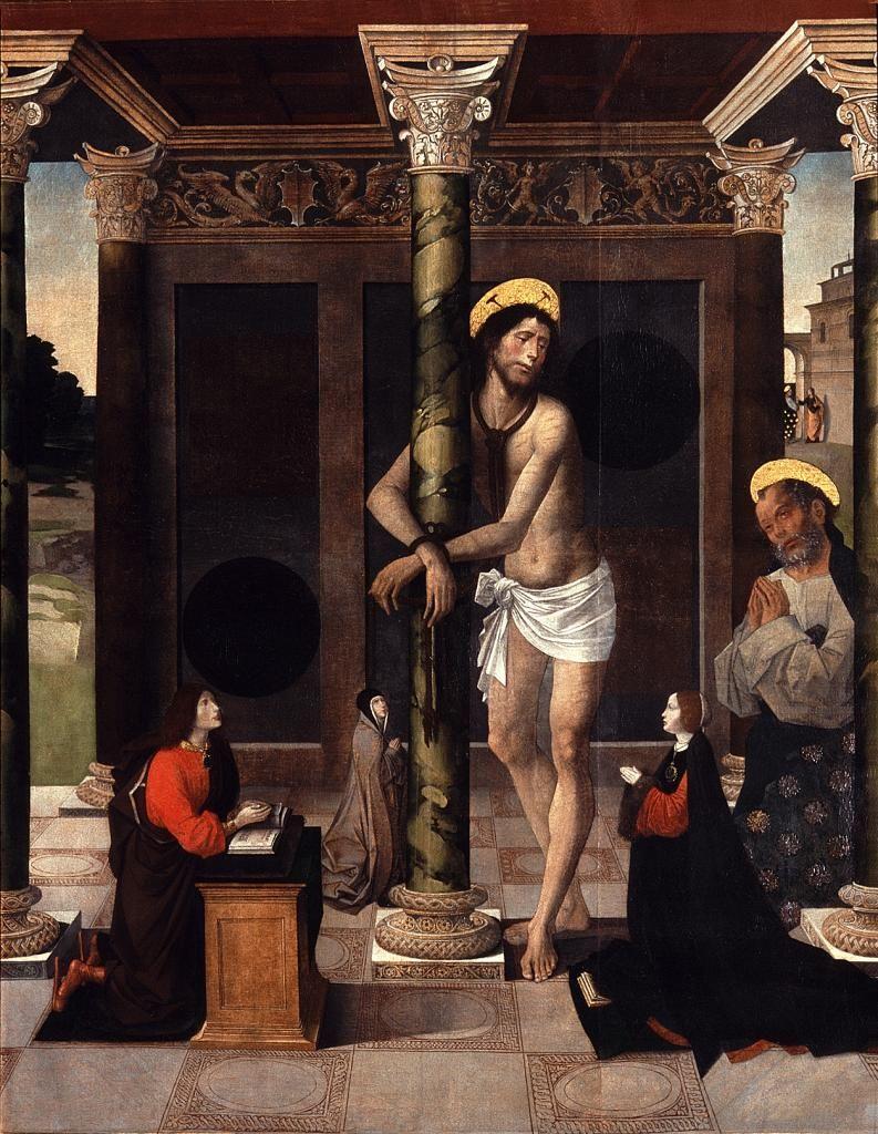 Alejo Fernandez Cristo Atado A La Columna Cristo Atado A La