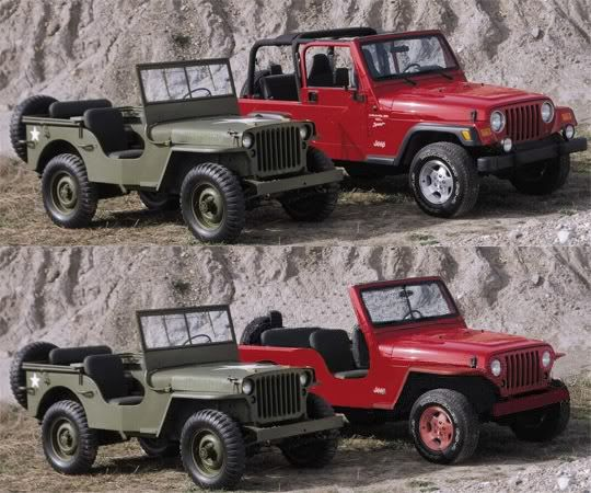 Idea To Bounce Around Tj Made To Look More Like A Mb Jeep Vintage Jeep Jeep Tj Willys Mb