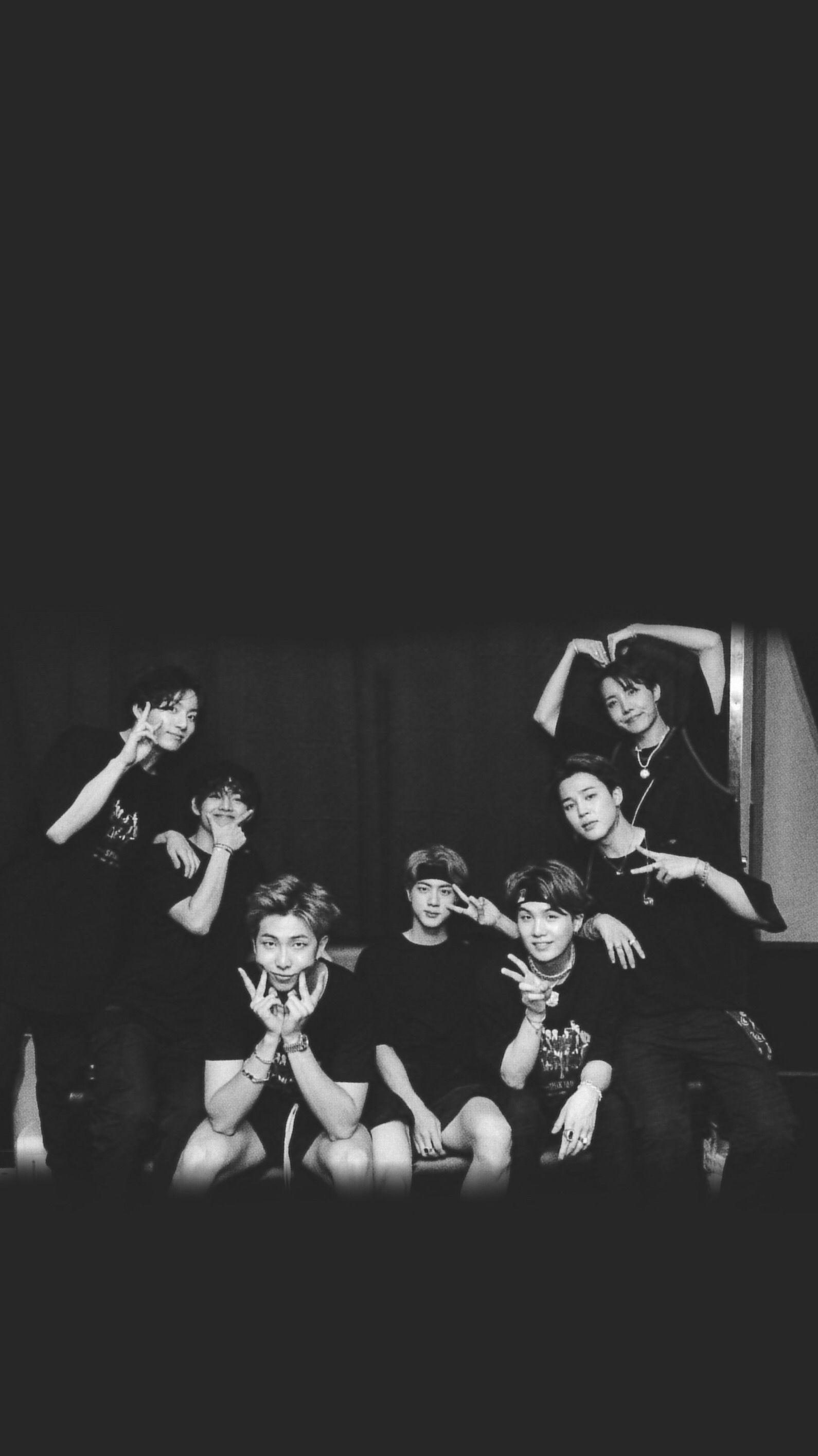 Bts Wallpaper Lock Screen Bw Black And White Wallpaper Iphone Bts Group Photo Wallpaper Black Wallpaper Iphone