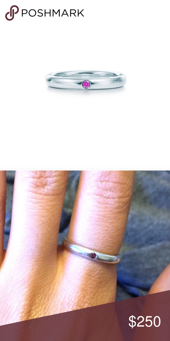 9deb21e66 Tiffany & Co Pink Sapphire sterling silver ring Beautiful stackable pink  sapphire ring. Considering all offers! Tiffany & Co. Jewelry Rings