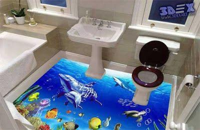 Merveilleux 3d Bathroom Floor And 3d Self Leveling Flooring, 3d Epoxy Floors What Is 3d