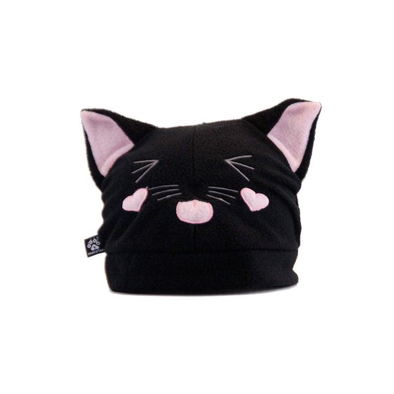 Pawstar Kitty Loves You Beanie Cat Ears Fleece Hat Cute Etsy Fleece Hat Cat Eared Beanie Cat Ears