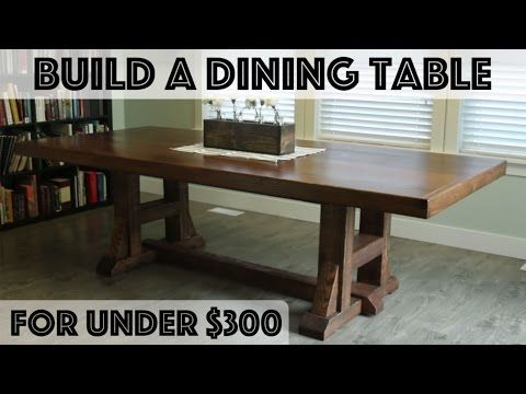 DIY Dining Table: Pottery Barn Inspired Farmhouse Table   YouTube